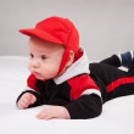 Portrait of adorable baby — Stock Photo #23956457