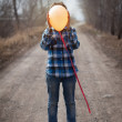 The cheerful boy with a balloon — Stock Photo #24683651