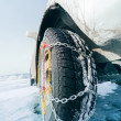 Winter tyres in extreme cold temperature — Stock Photo #24870309