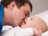 Portrait of father with his baby boy — Stock Photo