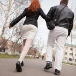 Walking Couple — Stock Photo