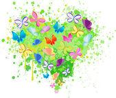Vector de mariposa corazón abstracto — Vector de stock