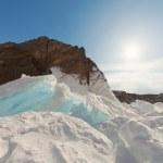 Frozen Lake Baikal. Winter. — Stock Photo #31196335