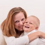 Happy Mom and Baby Boy — Stock Photo