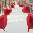 In the winter with love — Stockfoto