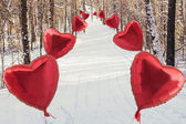 In the winter with love — Stock Photo