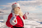Santa Claus standing outdoors — Stock Photo