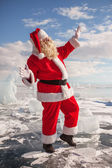 Santa Claus standing outdoors  — Stockfoto