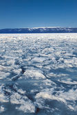 Frozen Lake Baikal. Winter.  — Foto Stock