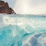 Frozen Lake Baikal. Winter. — Stock Photo #44326655