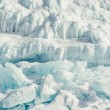Texture of ice of Baikal lake in Siberia — Stock Photo