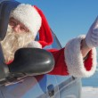 Portrait of Santa Claus in the car — Stock Photo #46316453