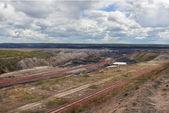 Giant machine in coal mine — Zdjęcie stockowe