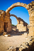 Ruins of Greek ancient arches in Paphos, Cyprus — Stock Photo
