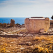 Huge preserved ancient Greek stone jug in Limassol, Cyprus — Stock Photo