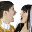 Man and woman yelling at each other — Stock Photo