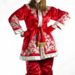 Stock Photo: Girl in winter folk costume