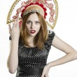 Girl with Kokoshnik — Stock Photo