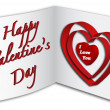3D Valentine's Day card — Stock Vector