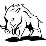 Vector illustration of wild boar — Stock Vector #35270739