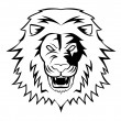 Vector illustration of lion head — Stock Vector
