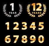 Number set — Stock Vector