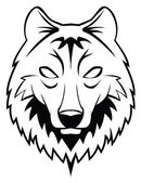 Vector illustration of wolf head — Stock Vector