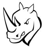 Vector illustration of rhinocerros — Stock Vector