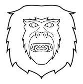 Vector illustration of monkey face — Stock Vector