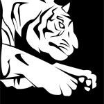Vector illustration of Tiger Jump Sign — Stock Vector #35287921