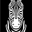 Illustration of zebra face — Stock Vector