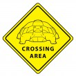 Illustration of Turtle Crossing Area — Stock Vector