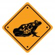 Illustration of frog sign — Stock Vector