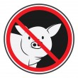 Illustration of pig forbidden — Stock Vector