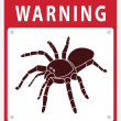 Spider Beware Sign — Stock Vector