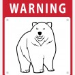 Bear Warning Sign — Stock Vector #35289153
