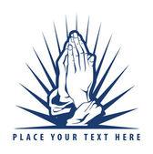 Illustration of praying hand — Stock Vector