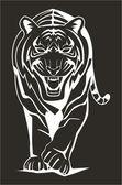 Vector illustration of tiger — Stock Vector