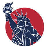 Illustration of liberty symbol — Stock Vector