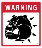 Illustration of dog warning — Stock Vector
