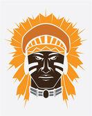 Illustration of apache mascot — Stock Vector