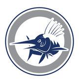 Afbeelding van een vis marlijn — Stockvector