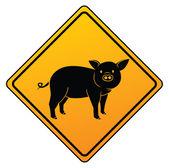 Illustration of pig symbol — Stock Vector