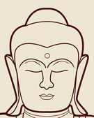 Buddha face — Stock Vector