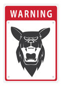 Illustration of Beware Sign Shepherd Dog — Vector de stock