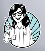 Nurse syringe — Cтоковый вектор