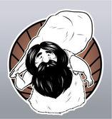 Illustration of caveman — Stock Vector