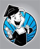 Ilustração de pós-graduação — Vetor de Stock