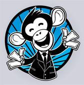 Monkey business — Stock Vector