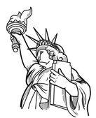 Illustration of liberty statue — Vettoriale Stock